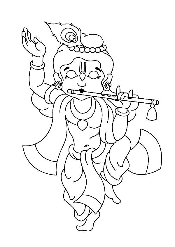 Lord Krishna: Pencil Sketches – A MYTHOLOGY BLOG